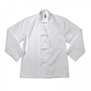 C128 Pinnacle Textile Male French Knot Button Chef Coat