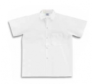 Extra Long Kitchen Shirt, S102 Pinnacle Textile Extra Long White Kitchen Shirts w/ Snap Front