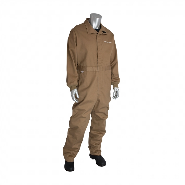 9100-2100D PIP® ARC/FR Dual Certified Coverall w/ Vented Back - 8 Cal/cm2: Tan