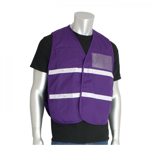 PIP® Non-ANSI Incident Command Vest- Cotton/Polyester Blend: PURPLE