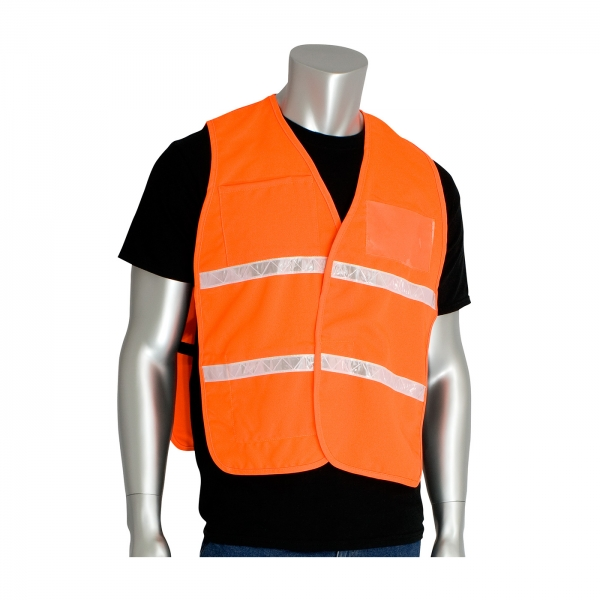 PIP® Non-ANSI Incident Command Vest- Cotton/Polyester Blend: FLUORESCENT ORANGE