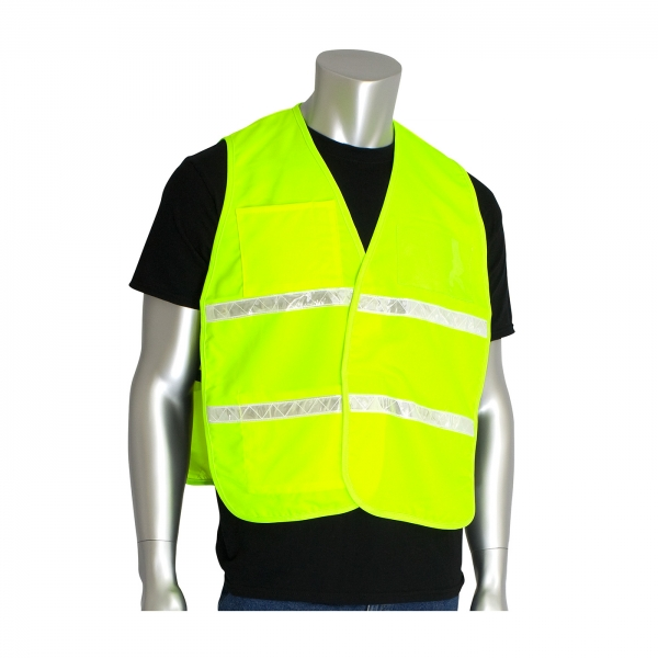 PIP® Non-ANSI Incident Command Vest- Cotton/Polyester Blend: FLUORESCENT YELLOW