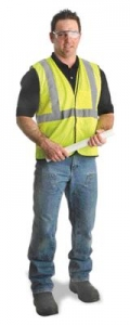 MDS Economy Mesh Safety Vest w/ Reflective Tape - Class R2