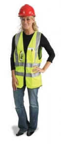 MDS Economy Dielectric Sureyor's Safety Vest w/ 3M™ Scotchlite™ Reflective Tape Striping -  Class R2