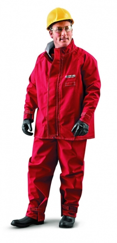 Ansell® AlphaTec® Red Polyester Chemical Jackets
