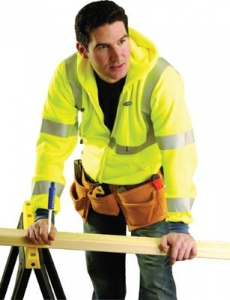 #OCCSWT3HZ OccuNomix OccuLux® Hi-Vis Wicking Hooded Sweatshirt - Class R3