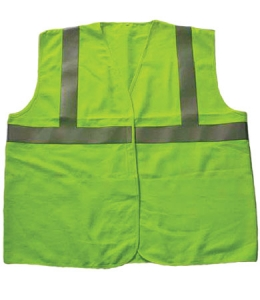 Class 2 Flame Resistant Modacrylic Solid Fabric Vest, 3052000 PIP SafetyGear™ Arc Rated Safety Vest w/ Reflective Tape- Class 2