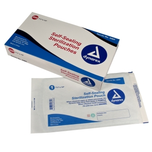 4465 Dynarex® Self-Sealing Sterilization/Autoclave Pouchess - 7-1/2` x 13`