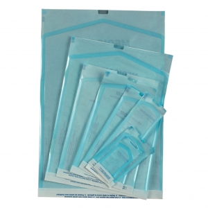 Self Sealing Translucent Autoclave Bags with Built-in Indicators, MDS Self-Sealing Sterilization/Autoclave Pouches - 12` x 15`