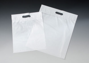 Promotional 9` x 12` Poly Bag w/ Die-Cut Handle