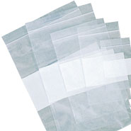 Zip Plastic Bags w/ White Patch