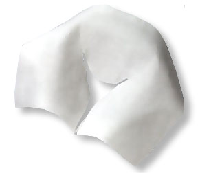 Tidi® Choice™ Disposable Pre-Cut Chiropractic Head Rest Exam Sheets w/out Facial Slit: 12` X 12` 980880, 12` X 24` 980882