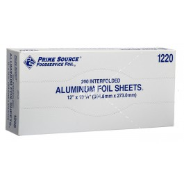 75001220 Prime Source® 12-in X 10-3/4-in Aluminum Foil Sheets in Pop-Up Box