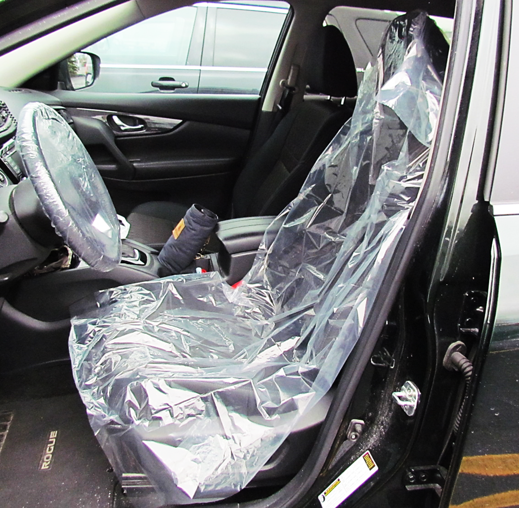 Clear Protection® Disposable Poly Automotive Seat Barrier Covers  (33`w x 54`L)
