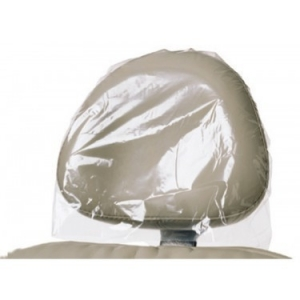 Tidi® Everyday™ Disposable Plastic/Poly Dental Head Rest Cover: 10` X 10` White 919611, 10` X 10` Clear 919612, 10` X 13` White 919621, 10` X 13` Clear 919622, 13` X 13` White 919631