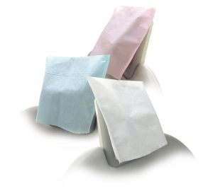 Tidi® Choice™ Colored Disposable Tissue/Poly Dental Head Rest Covers-10` X 10`: White 919711, Green 919712, Blue 919713, Mauve 919716, Lavender 919716