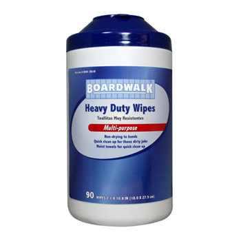 Heavy-Duty Wipes, 356W Boardwalk® Heavy-Duty XL Hand Wipes