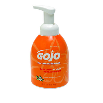 GOJO® Luxury Foam Antibacterial Hand Wash, 5762] GOJO® Luxury Foam Antibacterial Hand Soap (18 oz)