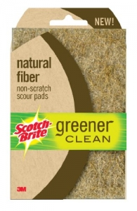 Scotch-Brite Greener Clean Natural Fiber Non-Scratch Scour Pad