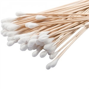 6` Cotton-Tip Wooden Applicators