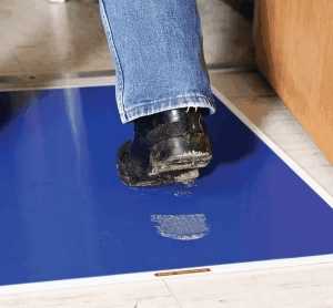 Adhesive Floor Entrance Mats Remove Uwanted Particulates