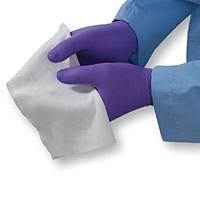 MicroSeal SuperSorb™ Sealed Edge Knitted Polyester Cleanroom Wiper, 9` x 9`, #MSSS.0909.8