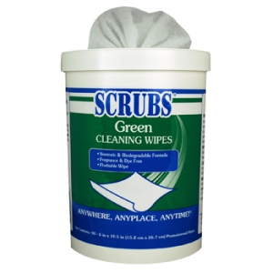 #91828 ITW Dymon® Scrubs® Green Cleaning Wipes