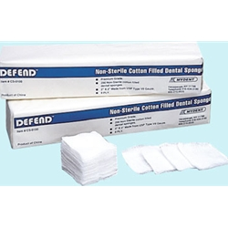 CS-0100 Defend® 2 x 2 Cotton Filled Dental Exodontia Sponges