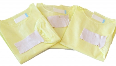 AAMI-Rated SMS Protective Yellow Isolation Gowns