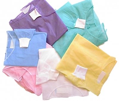 Polypropylene Gowns w/ Wrist-Shield Cuff Technology, MDS Disposable Fluid Resistant Polypropylene Protective Barrier Gowns w/ WRIST-SHIELD™ Thumb Slit