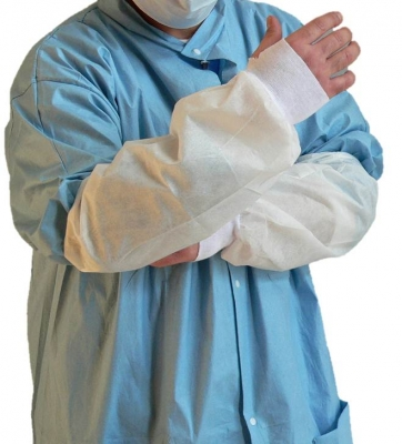 MDS PE Coated DisposableThumbhole Protective Arm Sleeves