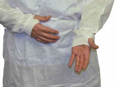 Non-Irritating Disposable Protective Gown w/ Wrist-Shield