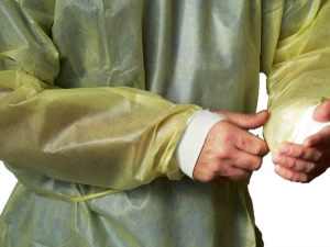 PE Coated Isolation Gowns w/ Wrist-Shield Cuff Technology, MDS Disposable Impervious PE Coated Protective Barrier Gowns w/ WRIST-SHIELD™ Thumb Slit