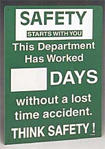 PRINZING SAFETY RECORD SIGN. DEPT