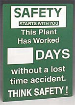 Brady Prinzing Plant Safety Record Sign