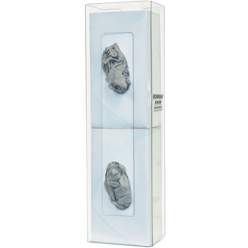 GP-106 : Bowman® Clear PETG Plastic Double Space Saver Glove Box Dispenser