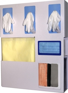 LD-070 Bowman Plastic Personal Protective Equipment Organizer
