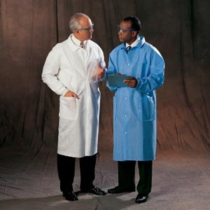 10040 Halyard® Health Precautions Disposable Protective Lab Coats w/ Pockets & Knit Cuffs