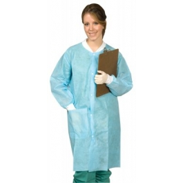 Mydent Defend® Disposable Protective Dental Lab Coats w/ 1 Pocket & Knit Cuffs