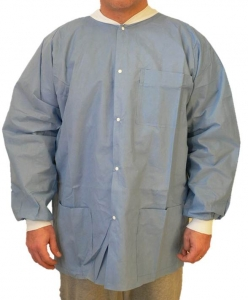6200 Maytex® Disposable SMS Protective Lab Jackets w/ Pockets & Knit Wrists