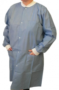 Maytex® 6250 Disposable SMS Protective Lab Coats w/ Pockets & Knit Cuffs