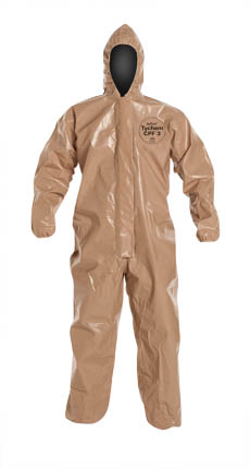 DuPont™ Tychem® CPF 3 Coverall, C3127TTN DuPont™ Tychem® CPF 3 Disposable Chemical Coveralls - Hood/Elastic