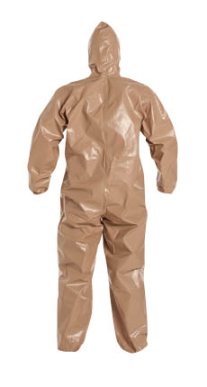 DuPont™ Tychem® CPF 3 Coverall, C3127 TTN, DuPont™ Tychem® CPF 3 Disposable Chemical Coveralls - Hood/Elastic