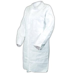 3718 PosiWear UB Disposable Microporous Lab Coats w/ No Pockets