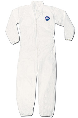 TY125SHW Dupont™ Tyvek® Disposable Protective Coveralls w/ Elastic