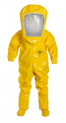 DuPont™ Tychem® BR Encapsulated Level B Suit w/ Expanded Back (Rear Entry)