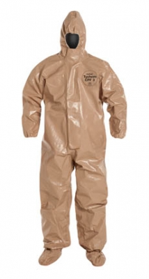 DuPont™ Tychem® CPF 3 Limited-Use Chemical-Resistant Protective Coveralls w/ Respiartor Fit Hood & Socks