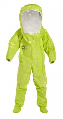Dupont Tychem® TK Limited-Use Encapsulated Level A Suit w/ Expanded Back / Front Entry