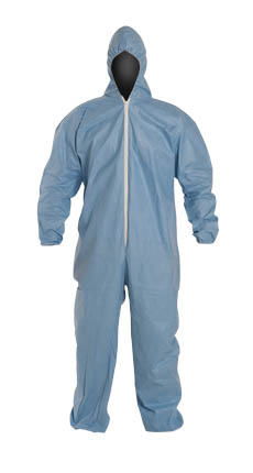 DuPont™ Tempro® Coverall. Standard Fit Hood. Elastic Wrists and Ankles, TM127SBU DuPont™ Tempro® Disposable FR Protective Coveralls w/ Hood /Elastic. Serged Seams.