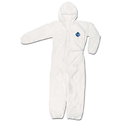 TYT127SWH Dupont™ Tyvek® Disposable Protective Coveralls  w/ Hood/Elastic